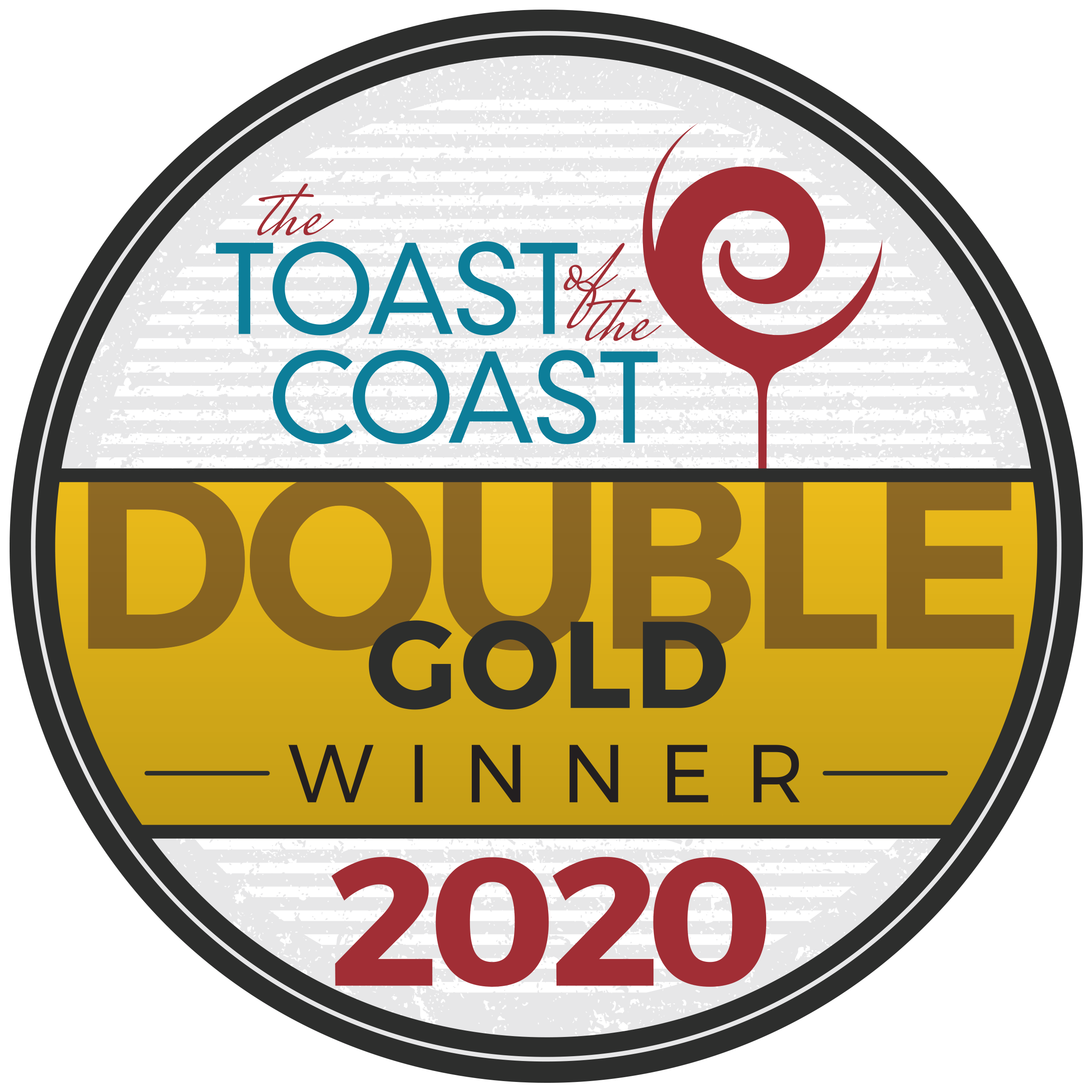 Toast of the Coast Double Gold Badge